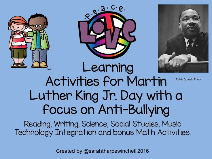 Are you searching for creative ways to teach about Martin Luther King Jr.? This resource features poetry, art projects and focuses on kindness and anti-bullying. It is an complete unit. #mlkday #martinlutherkingjrday