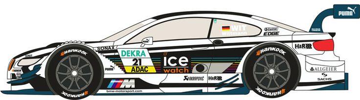 """1:24 BMW M3 DTM #21  """"ICE WATCH"""" 2013 (M.Witmann)"""