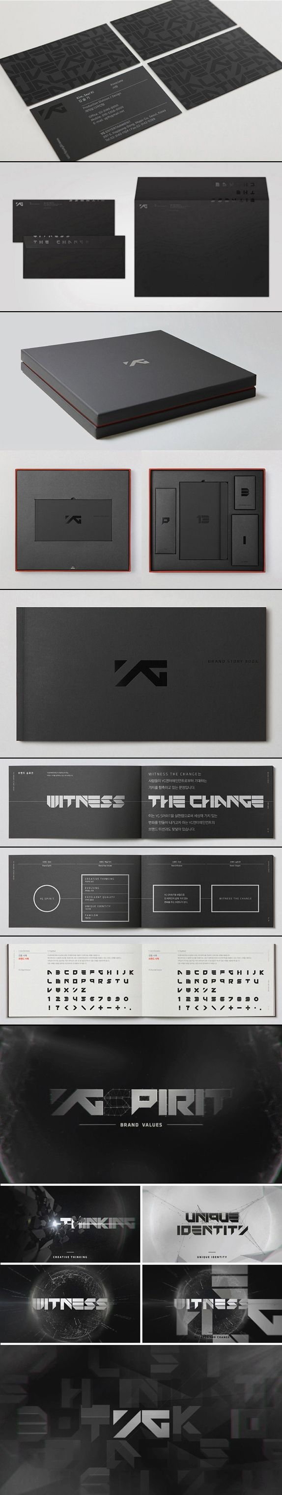 YG Entertainment identity guideline and brand book.