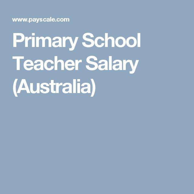 Primary School Teacher Salary (Australia)