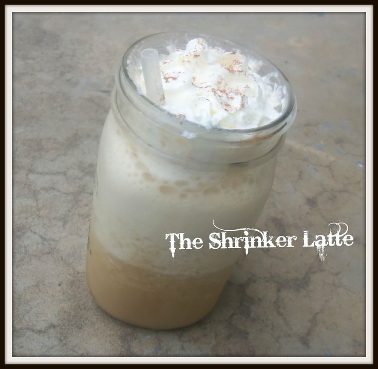 Blessed Simplicity: The Shrinker Latte http://blessed-simplicity.blogspot.com/2013/08/the-shrinker-latte.html