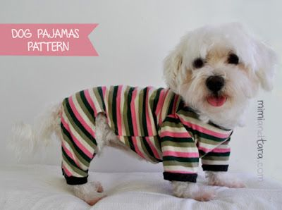 This looks like a great pattern and I could try it in towelling, but I'll probably cock it up!!  Mimi & Tara | Free Dog Clothes Patterns: Dog pajamas pattern