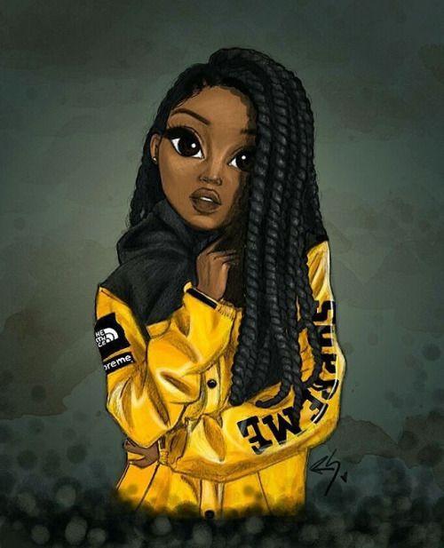 pin hekyma art black girl