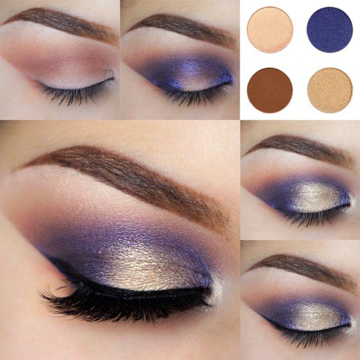 Maquillaje de noche para vestido azul noche