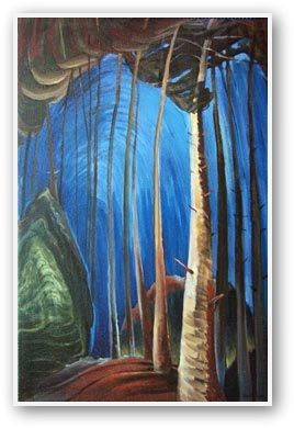 "Emily Carr - a great Canadian painter and one of the first Canadians to adopt a post impressionist style (my fave). The Group of Seven sometimes referred to Carr as ""The Mother of Modern Arts""."