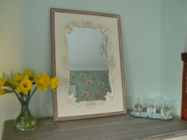 French Style Cream Wall Mirror