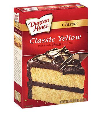 Duncan Hines Classic Yellow Cake Mix is dairy-free and egg-free. Follow our family's allergy story at www.foodallergyninja.com