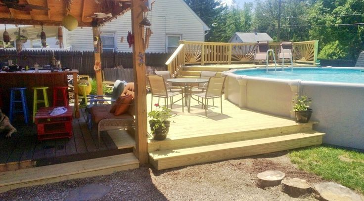 Pin By Nicki Skovich On Above Ground Pool Deck Pinterest