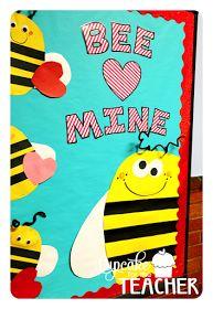 Bee Mine, Valentine! Valentine's Day bulletin board, craft, and printables