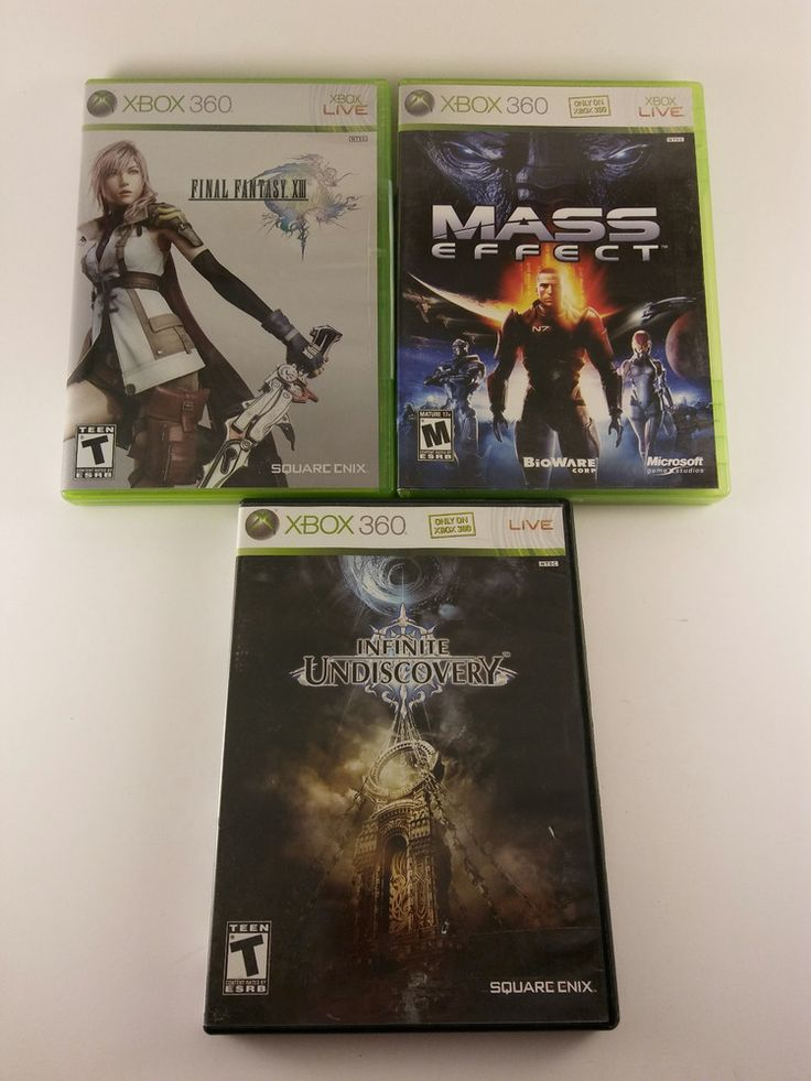 XBOX 360 RPG 3 game lot - Mass Effect, Final Fantasy 13, Infinite -  FREE SHIP!