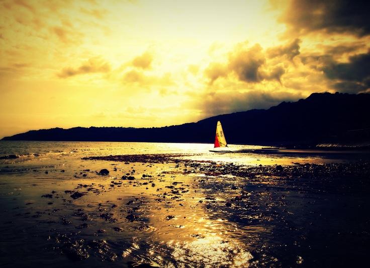 Sunset at Weymouth Bay