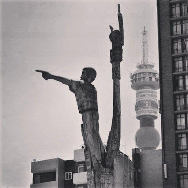 The Jozi skyline! #snapyourcity #jozi #art #sculpture #architecture #urbangenesis #instagram