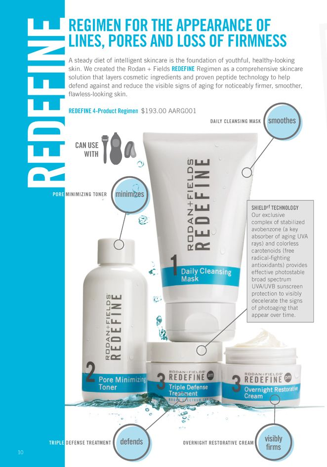 Use the Rodan + Fields Redefine regimen to rollback the clock and look younger. Redefine can unclog pores, make pores appear smaller and diminish the look of lines and wrinkles. Visit my website today to find out how to save 10% on your orders and receive free shipping. #RodanandFields #AmpMD
