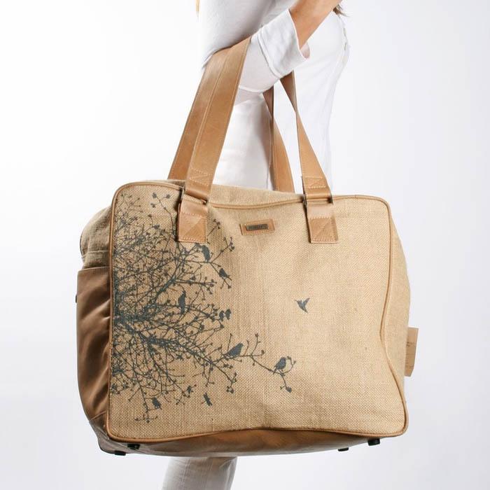 Hessian Bag by Thandana ... Love the design on it!