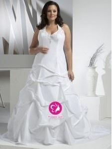A-ligne Dos nu Traîne moyenne Robe de mariée en Taffetas avec Perle Broderie Jupe ample & ornée(FR0257292)