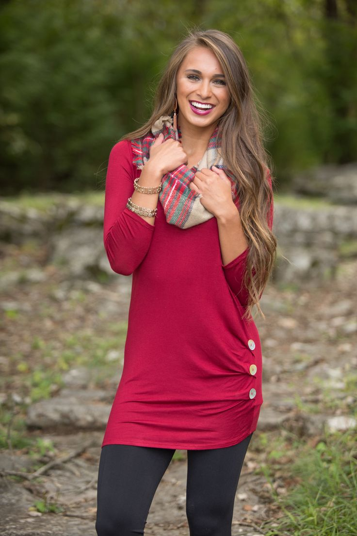 Love Me Completely Tunic Burgundy - The Pink Lily