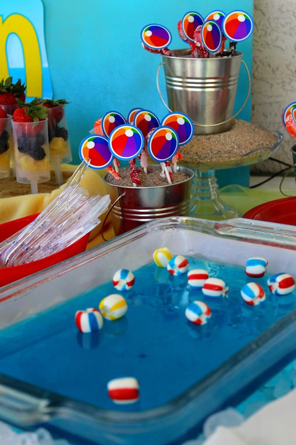 Indoor Pool Party Ideas cool indoor pool party ideas for winter babies Beach Ball Birthday Bash Via Karas Party Ideas Karaspartyideascom Beach Ball