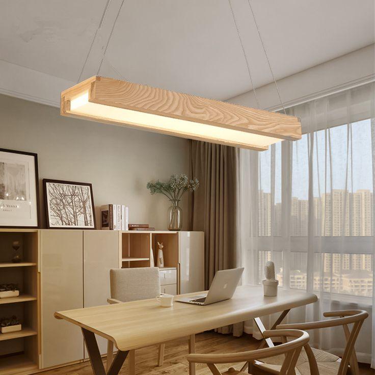 Японский современный простой индикатор Люстры твердой древесины лампы творческая личность столовая гостиной Люстры Бесплатная доставка купить на AliExpress