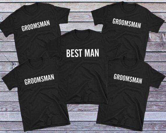 ad793ccc91900 Best Man Groomsman Shirt, Bachelor Party Shirt, Groomsmen Gift ...