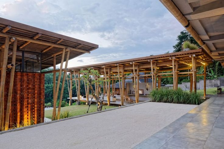 The studio developed the building's plan around a Balinese spatial concept, consisting of three distinct zones. These are arranged in increasing order of sanctity as they approach a central zen space known as the akasa.
