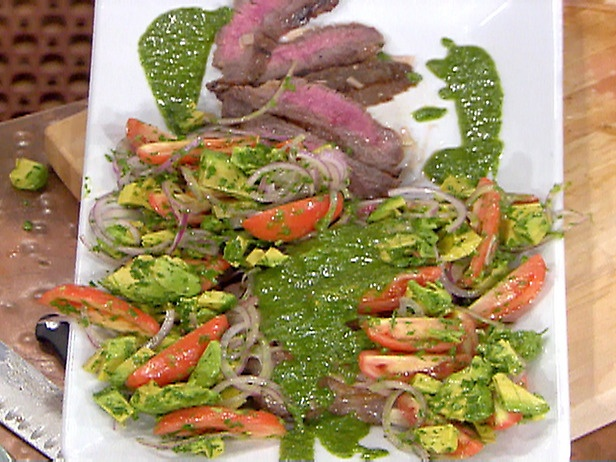 Picture of Marinated and Grilled Flank Steak with Chimichurri Sauce ...