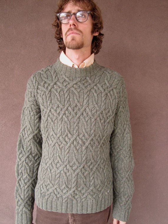 1980's Vintage J. Crew Sage Green Sweater