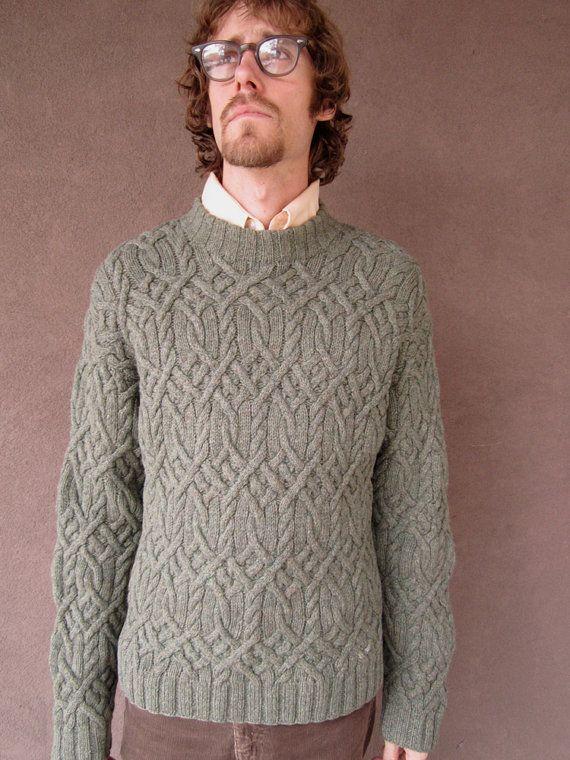 1980's Vintage J. Crew Sage Green Sweater