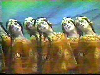 The Ballet Russes with Diagaliev . The Le Sacre du Printemps (The Rite of Spring) choreography by Nijinsky music by Stravinsky