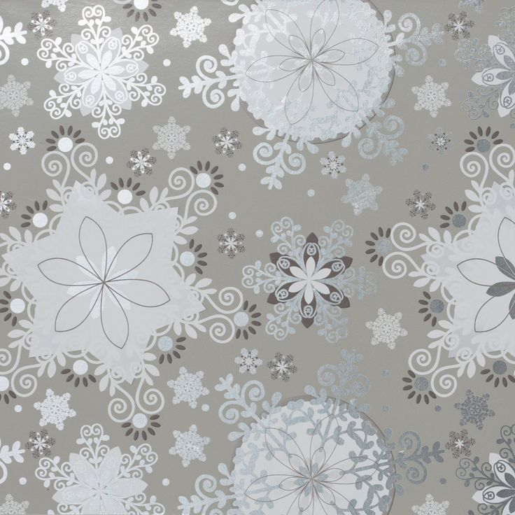 Bulk Ream Roll Christmas Gift Wrap Wrapping Paper, Silver ...