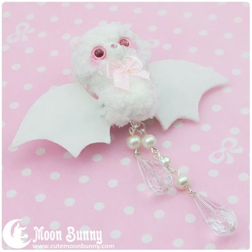 albino bat clip| $17  pastel goth creepy cute creepy kei pastel lolita fachin clip bat hair accessories accessories hair clip under20 under30 etsy