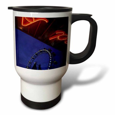 3dRose Austria, Vienna. Giant Ferris Wheel, Amusement Park-EU03 WBI0367 - Walter Bibikow, Travel Mug, 14oz, Stainless Steel
