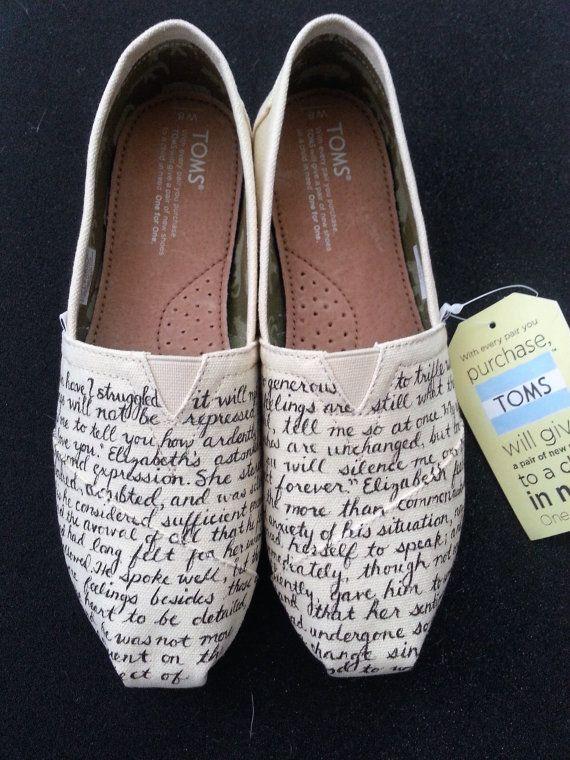 Jane Austen's Pride and Prejudice Custom Made Shoes by BRINKADINK