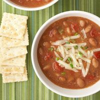 Southwestern Pinto Bean Soup ~ Looks yummy... and good for you.. recipe from Diabetic Living