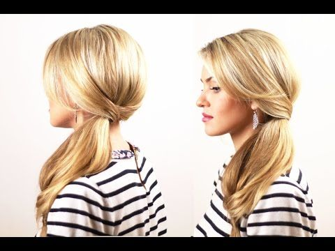 Hair tail for an evening out. Exquisite Tail for an Evening Event - YouTube