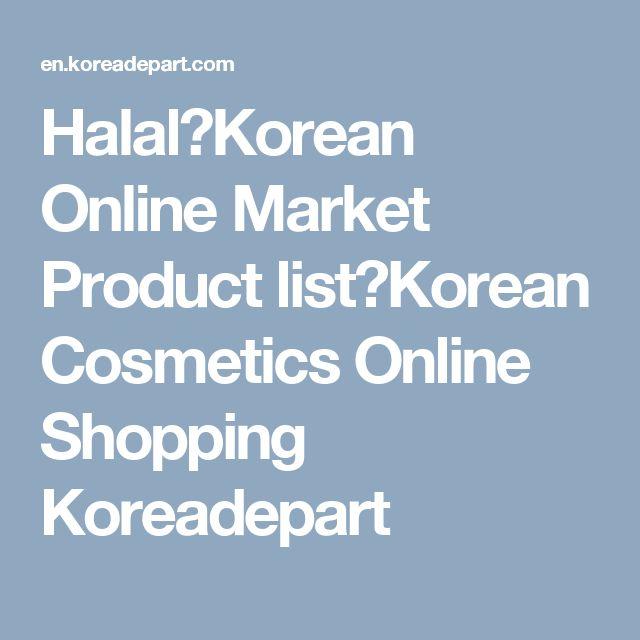 Halal|Korean Online Market Product list|Korean Cosmetics Online Shopping Koreadepart