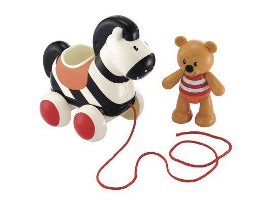 ELC Toy Box Pull Along Zebra and Bear, £10, debenhams.com