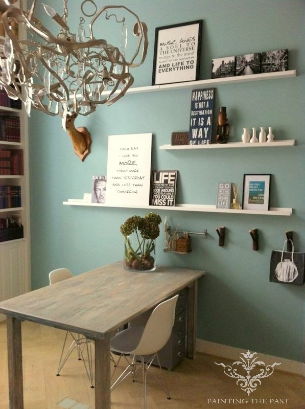 zo mooi deze mint muur.... Wallcolor Mint by Painting the Past