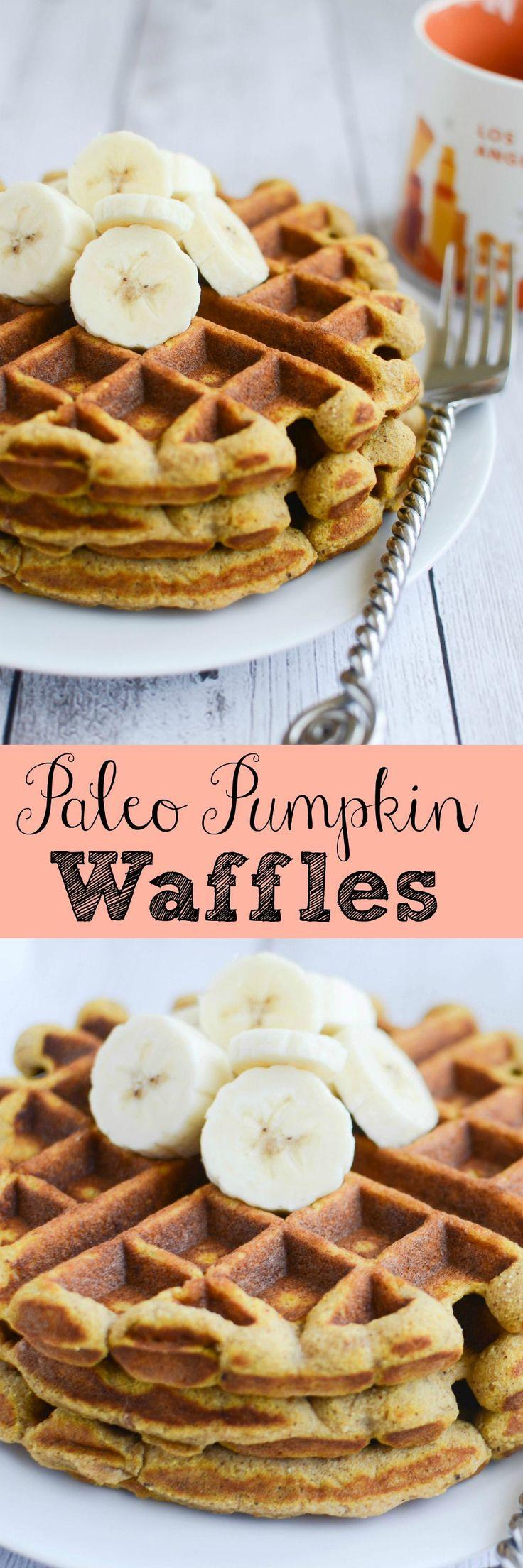 Paleo Pumpkin Waffles - healthy and delicious waffles recipe!