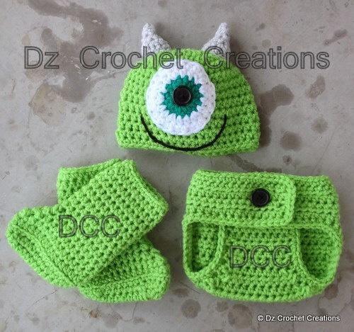 Crochet Monster Photo Prop - Newborn 0-3 months. $22.00, via Etsy.