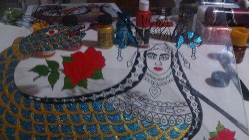 Şahmaran çalışmam..Camaltı boyama Detay..my work..Neş'e Topsakal..