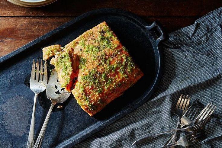 salmão com lima e alho, um jantar rápido e delicioso para...