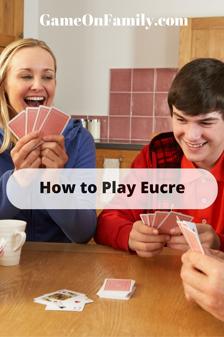 As far as popular card games go, Euchre may not be as well-known to some people as Rummy or Solitaire might be. It's a great game that is social in its context but also commands a high degree of subtlety in its play.   Learn how to play euchre at www.gameonfamily.com. Discover the euchre rules and start playing this social game! #euchre #eucre #cardgames