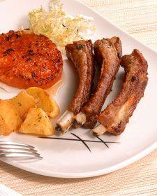 Costilla de cerdo con patatas salvajes (pork chop with wild potatoes)