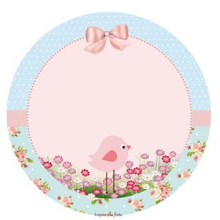 Pink Bird in Shabby Chic: Free Printable Kit.