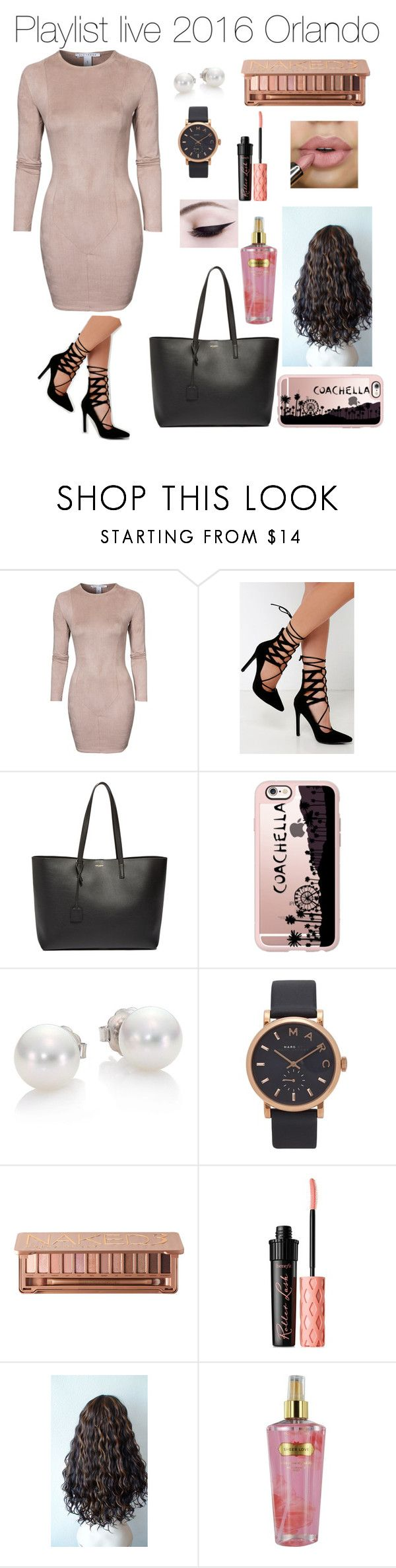 """""""playlist live 2016"""" by vasiliki5sos ❤ liked on Polyvore featuring NLY Trend, Lulu*s, Yves Saint Laurent, Casetify, Mikimoto, Marc Jacobs, Urban Decay, Benefit and Victoria's Secret"""