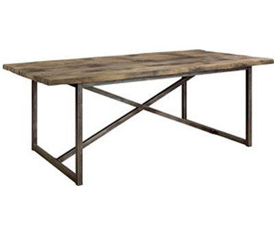 Axel spisebord kombinerer gamle verden og industrien med en kombination af regenereret træ fra nedlagte kinesiske fiskeri både og hånd-behandlede metal detaljer.  Efter årtiers udsættelse for det åbne hav afspejler træet et unikt forvitret farve-og teksturer, hvilket gør hvert bord unikt.   Længde 213 x bredde 106 x højde 76 cm
