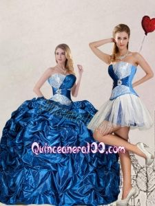 Brand New Sweetheart Blue Quinceanera Dress with Pick up