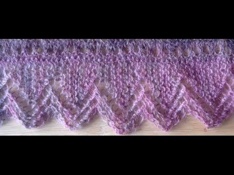 Knit lace stitch