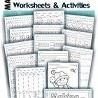 Math Worksheets & Activities - Winter (Beginning Skills)