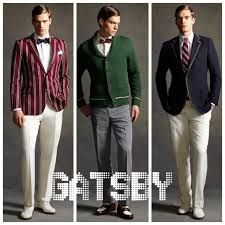 Image result for tobey maguire great gatsby tea outfit